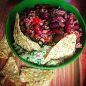Chili Con Carne, Tacos, Guacamole
