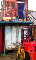 Artist in her Container Atelier @ Amsterdam Noord