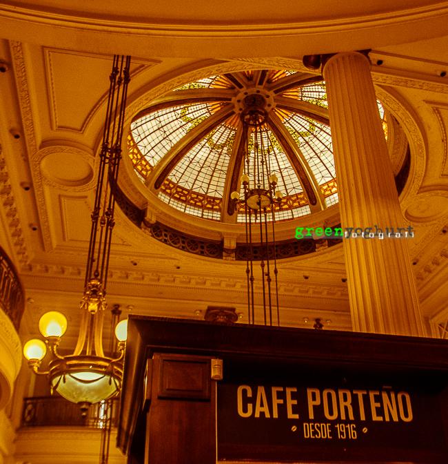 Café in Retiro Central Station. Café Porteño