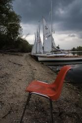 Ausflug zur Industrieromantik Lagune - mit Sitzgelegenheit
