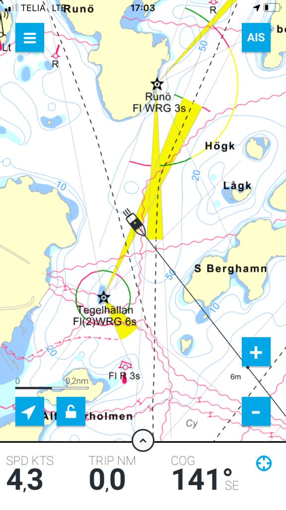 seamap eniro på sjö / Stockholms Skärgård / Runö